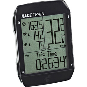 Cube Race Train Cycle Computer black